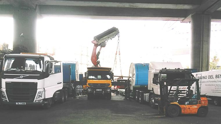 香港特种柜装卸仓储装柜进出口案例